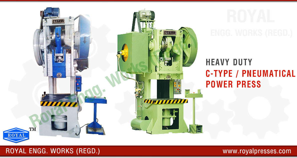 C Frame Type Pneumatic Power Press manufacturers exporters suppliers in india punjab ludhiana